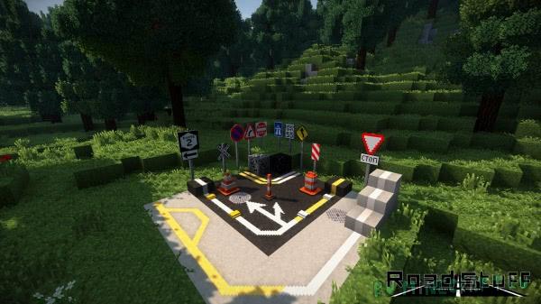 Road Stuff - разметка, знаки, декор дороги [1.16.4] [1.15.2] [1.14.4] [1.7.10]