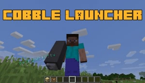 Cobble Launcher - стреляем блоками из камня [1.12.2]
