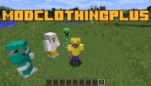 ModClothingPlus - много новой одежды для игрока [1.12.2]