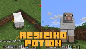 Resizing Potion - зелья роста/уменьшения в майнкрафте [1.12.2]