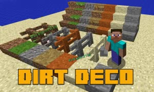 Dirt Deco - декоративные блоки из грязи [1.12.2]