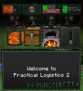 Practical Logistics 2 - мониторы для отображения информации [1.12.2] [1.10.2] [1.9.4]