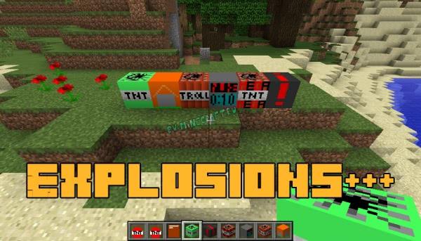 Explosions+++ - новый динамит/больше взрывчатки [1.12.2]