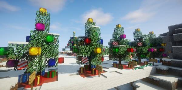 Карта Christmas Tree Pack - красивые новогодние елки [1.13.2] [1.12.2-1.8.9]