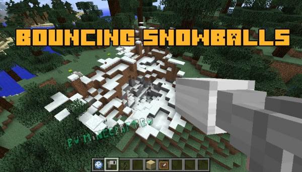 BouncingSnowballs - снего-ракетница [1.12.2]
