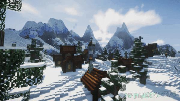 Snowy Mountain Village - заснеженная деревня среди гор [1.13.2]