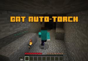 Gat Auto-Torch - авто установка факелов [1.13.2] [Датапак]