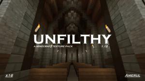 Unfilthy - гладкий средневековый ресурспак [1.12.2] [16x16]