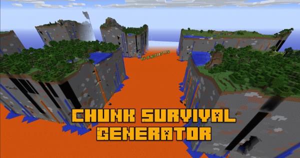 Chunk Survival Generator - генерация мира из чанков [1.12.2]