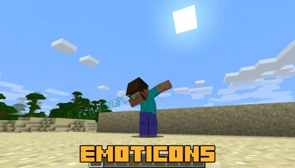 Emoticons - новые анимации действий и новые эмоции [1.12.2]