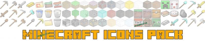 Иконки в стиле Майнкрафт - Minecraft Icons Pack