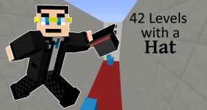 42 Levels With A Hat - паркур карта на командных блоках [1.13.2]