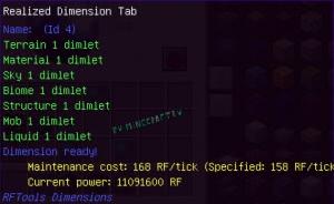 RFTools Dimensions - создаем измерения [1.16.5] [1.12.2] [1.11.2] [1.10.2] [1.8.9]