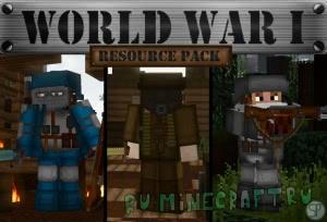 World War I: Resource Pack - текстуры первой мировой войны [1.14.4] [1.13.2] [1.12.2] [32x]