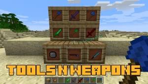 Tools'n'Weapons - новое оружие и инструменты [1.12.2]