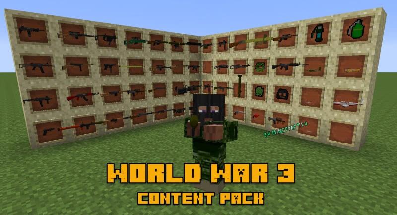 World War 3 content pack - контент пак фланс 3 мировой войны [1.8] [1.7.10]