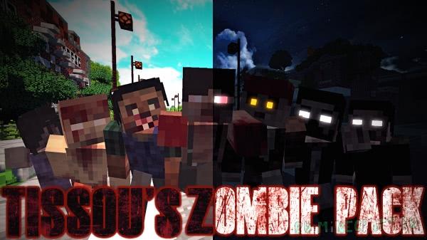 Tissou's Zombie Pack - текстуры 800+ зомби [1.16.5] [1.15.2] [1.14.4] [1.12.2] [1.11.2] [1.17.10] [16x]