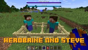 Herobrine and Steve - 2 известных моба [1.12.2]