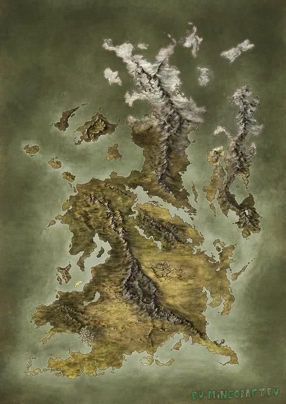 Island map - большой остров для выживания [1.12.2]