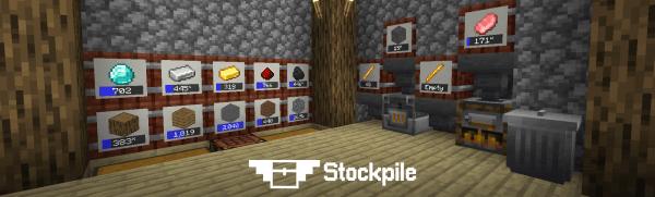 Stockpile - бочки для хранения предметов [1.15.1] [1.14.4] [1.13]