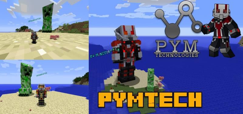PymTech - супергерой человек-муравей и оса [1.16.3] [1.15.2] [1.14.4] [1.12.2]
