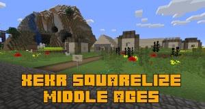 XeKr Squarelize Middle Ages - текстуры для средних веков [1.14.4] [1.13.2] [16x]