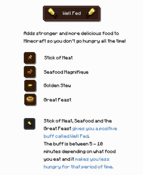 Well Fed - много еды в одном [1.15.1] [1.14.4] [1.13.2]