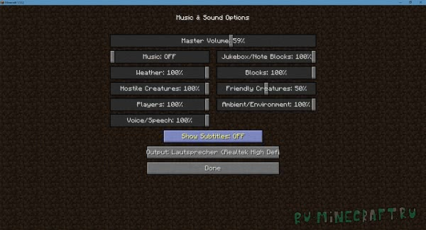 Sound Device Options - смена устройства воспроизведения [1.16.1] [1.15.2] [1.14.4] [1.13.2] [1.12.2]