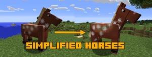 Simplified Horses - новые модели лошадей [1.12.2] [1.11.2] [1.10.2] [1.9.4]