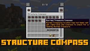 Structure Compass - компас  поиска структур [1.15.2] [1.14.4] [1.13.2]