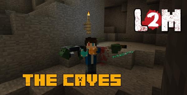 The Caves - пещера, карта для Left 2 Mine [1.12.2]