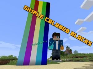 Simple Colored Blocks - огромная палитра цветов [1.14.4] [1.14.3]