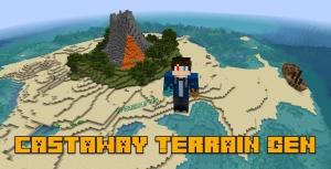 Castaway Terrain Gen - мир из океана и островов [1.14.2]