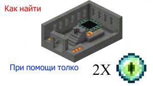 Как найти крепость края с минимальными затратами на ресурсы [GUIDE] [1.12.2-Beta 1.8]