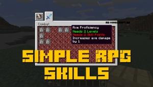 Simple RPG Skills - прокачивание игрока [1.12.2]