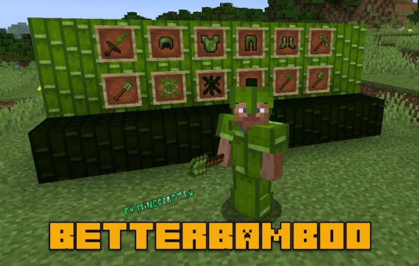 BetterBamboo - предметы из бамбука [1.14.4]