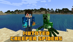 Mutated Creeper Spiders - мутант крипер-паук [1.14.4]