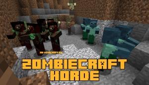ZombieCraft Horde - орды (стаи, группы) зомби [1.12.2]