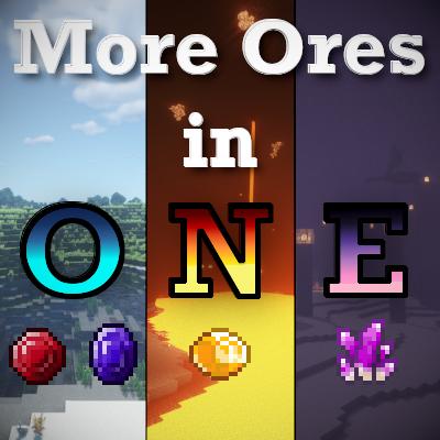 More Ores In ONE - новые драгоценные руды [1.15.1] [1.14.4]