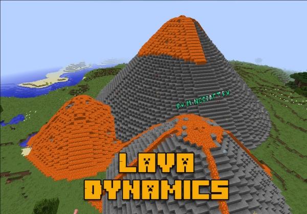 Lava Dynamics - вулканы [1.16.3] [1.12.2]