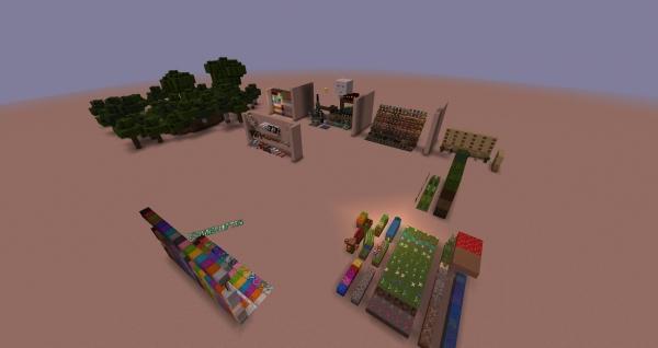 HFB TexturePack Testing Chamber - Карта для проверки ваших ресурспаков [1.14.4]