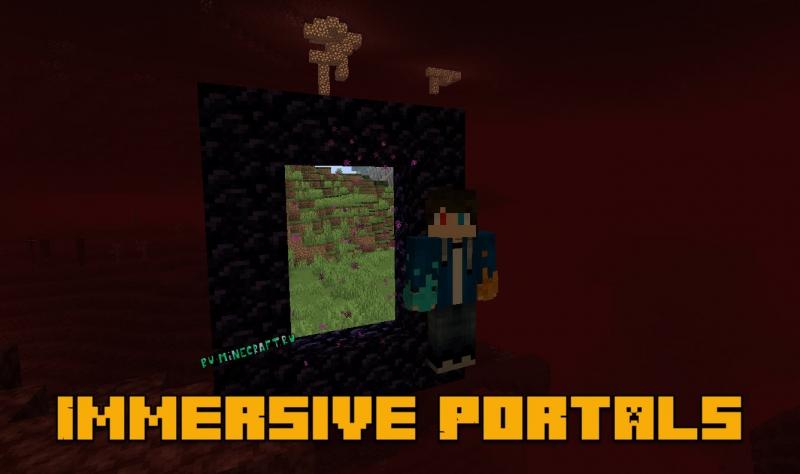 Immersive Portals - портал с видом другого мира [1.16.5] [1.15.2] [1.14.4]