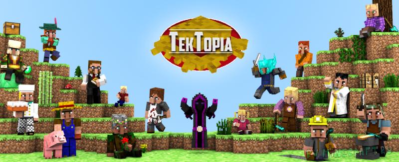 TekTopia - тектопия, развивай деревню, профессии [1.12.2]