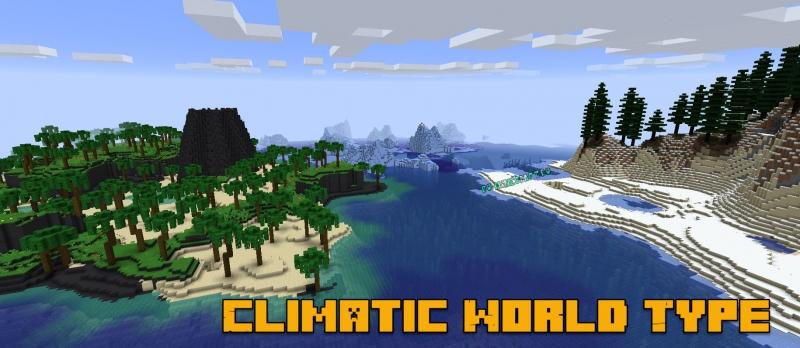 Climatic World Type - климатическое расположение биомов [1.15.1] [1.14.4]