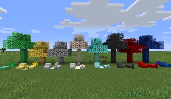 Ferroustry - деревья-руды [1.16.2] [1.15.2] [1.14.4]