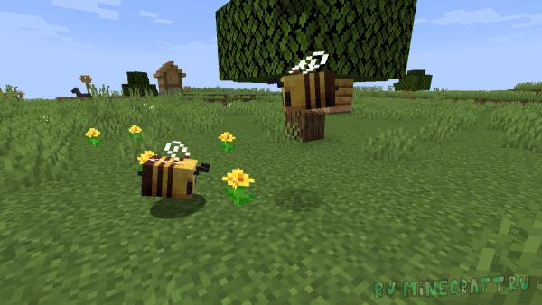 Снапшот 19W34A - Майнкрафт 1.15- Ванильное Пчеловодство (Прощай, Forestry)