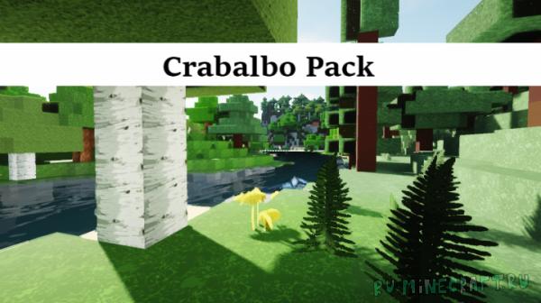 Crabaldo Pack - реалистичность + картонность [1.16.4] [1.15.2] [1.14.4] [256x]