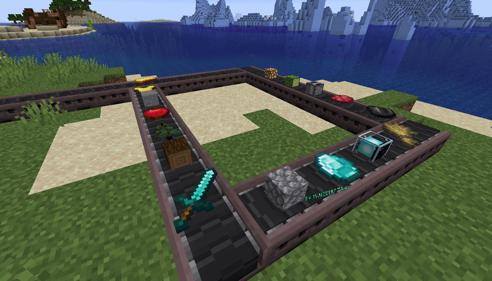 minecraft мод на конвейеры