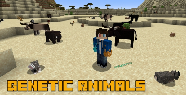 Genetic Animals - реалистичные животные, генетика [1.16.5] [1.15.2] [1.14.4] [1.12.2]