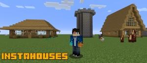 InstaHouses - блоки постройки домов [1.15.2] [1.14.4] [1.12.2]